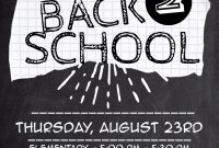 3rd Back to School Night Flyer Template Free Design