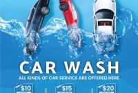 3rd Car Wash Flyer Template PSD Free Design