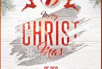 3rd Christmas Event Flyer Template Word Format Free Design