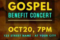 3rd Gospel Concert Flyer Template Free Download Design