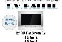 3rd TV Raffle Flyer Template Free Design Sample
