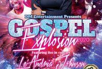 4th Gospel Concert Flyer Template Free Download Design