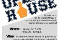 Amazing Open House School Flyer Template Design Free