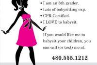 Babysitter Flyer Template Microsoft Word Free Idea (4th Design)