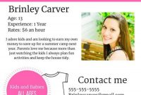 Babysitter Flyer Template Microsoft Word Free Idea (5th Design)
