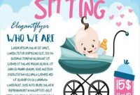 Babysitting Flyer Template Word Free Design (1st Idea)