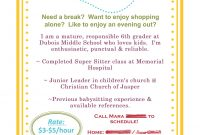 Babysitting Flyer Template Word Free Design (3rd Idea)