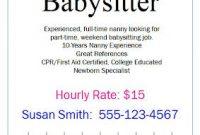 Babysitting Flyer Template Word Free Design (5th Idea)