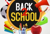 Back to School Flyer Template Word Free Download (1st Design)