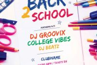 Back to School Flyer Template Word Free Download (2nd Design)