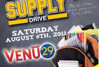 Back to School Supply Drive Flyer Template Free Design (1st Option)