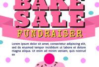 Bake Sale Fundraiser Flyer Template Free Idea (1st Sample Design)