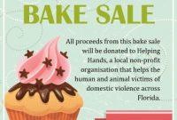 Bake Sale Fundraiser Flyer Template Free Idea (3rd Sample Design)