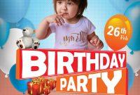 Birthday Celebration Flyer Template Free Design (3rd Idea)