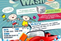 Charity Car Wash Poster Template Free Design (1st Choice)