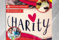 Charity Flyer Template Free Design Idea (1st Sample)