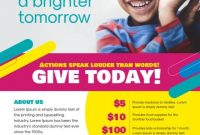 Charity Flyer Template Free Design Idea (4th Sample)