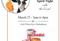 Chick Fil A Fundraiser Flyer Template Sample Free (1st Design)
