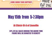 Chick Fil A Fundraiser Flyer Template Sample Free (2nd Design)