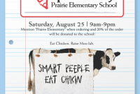 Chick Fil A Fundraiser Flyer Template Sample Free (4th Design)