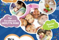 Child Care Flyer Free Template Design (2nd Sample)