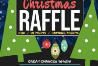 Christmas Holiday Raffle Flyer Template Free Design (1st Choice)