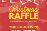 Christmas Holiday Raffle Flyer Template Free Design (2nd Choice)