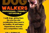 Dog Walking Flyer Template Download (3rd Design Sample Free)