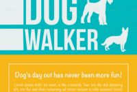 Dog Walking Service Flyer Template Free (1st Design Sample)