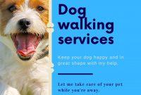 Dog Walking Service Flyer Template Free (2nd Design Sample)
