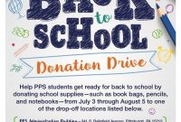 Free Back to School Drive Flyer Template Design (2nd Idea)