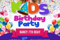 Free Birthday Party Flyer Template Word Format (2nd Design)