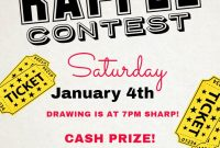 Free Raffle Flyer Template Design (1st Amazing Reference)