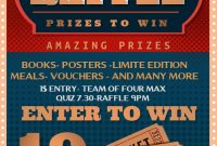 Free Raffle Flyer Template Design (3rd Amazing Reference)