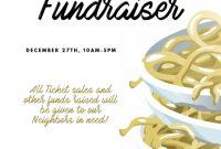 Free Spaghetti Dinner Fundraiser Flyer Template (1st Design)