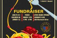 Free Spaghetti Dinner Fundraiser Flyer Template (3rd Design)