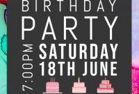Happy Birthday Flyer Template Word Free Download (3rd Design)