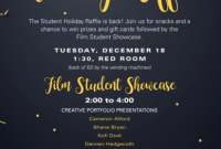 Holiday Raffle Flyer Template Free Design (The 1st Best Idea)