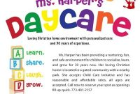 In Home Child Care Flyer Template Free Design (1st Reference)
