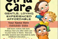 In Home Child Care Flyer Template Free Design (3rd Reference)