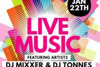 Live Music Concert Flyer Template Free Design (1st Choice)