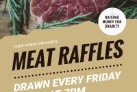 Meat Raffle Flyer Template Free Design (1st Sample)