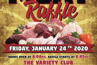 Meat Raffle Flyer Template Free Design (4th Sample)