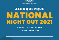 National Night Out 2021 Flyer Template Free Idea (1st Design)