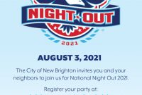 National Night Out 2021 Flyer Template Free Idea (2nd Design)