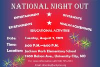 National Night Out 2021 Flyer Template Free Idea (3rd Design)
