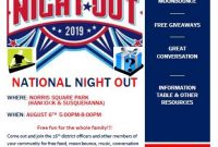 National Night Out Flyer 2019 Design Free (1st Choice)