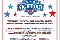 National Night Out Flyer 2019 Design Free (2nd Choice)