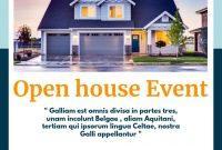 Open House Flyers for Realtors Design Free (1st Option)