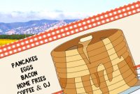 Pancake Breakfast Fundraiser Flyer Template Free Idea (1st Design)